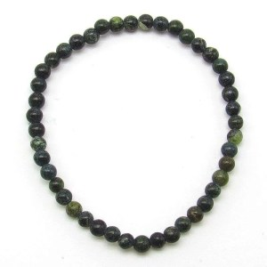 Green serpentine 4mm bead bracelet.