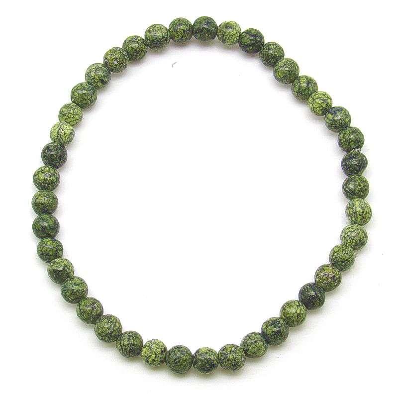 Russian serpentine 4mm bead bracelet.