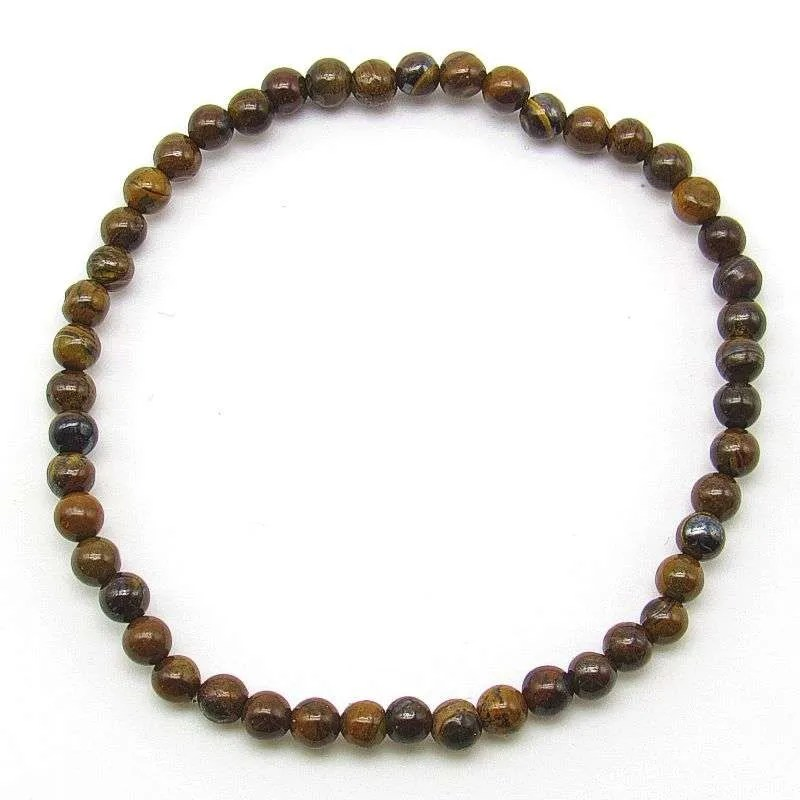 Tiger iron 4mm bead bracelet.