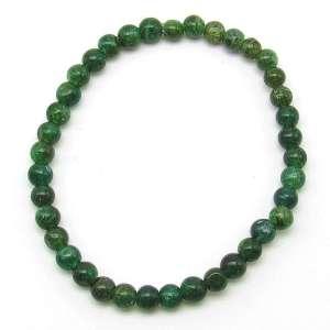 Emerald green aventurine 5mm bead bracelet.