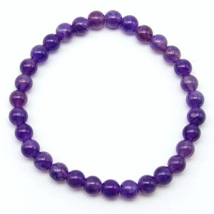 Amethyst 6mm bead bracelet.