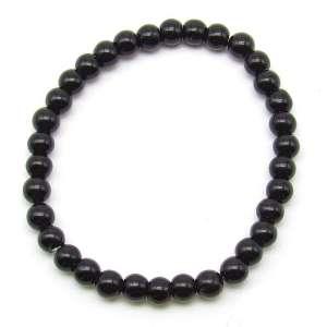 Black obsidian 6mm bead bracelet