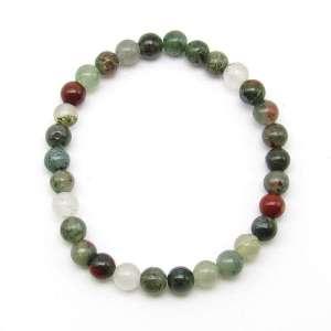 Bloodstone 6mm bead bracelet
