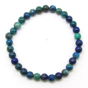 Chrysocolla 6mm bead bracelet