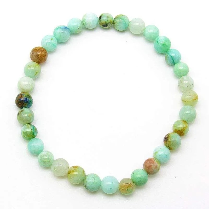 Green chrysocolla 6mm bead bracelet
