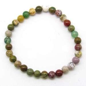 Ocean jasper 6mm bead bracelet