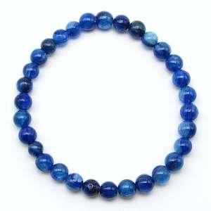 Blue kyanite 6mm bead bracelet