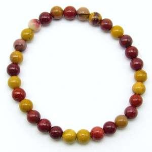Mookaite jasper 6mm bead bracelet