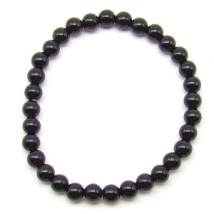 Black onyx 6mm bead bracelet