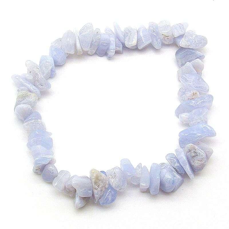 Blue lace agate chip bracelet.