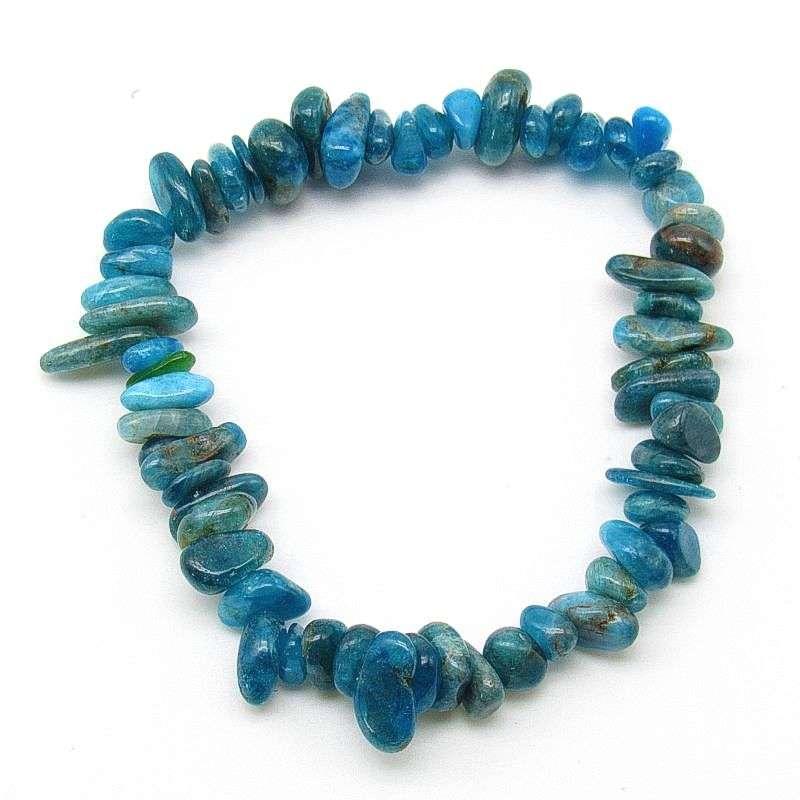 Blue apatite chip bracelet