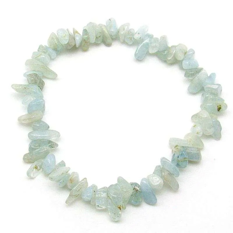 Aquamarine chip bracelet.
