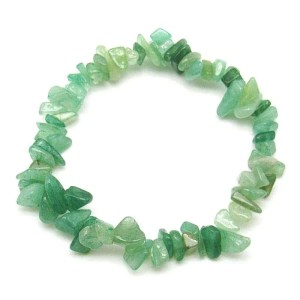 Green aventurine chip bracelet.