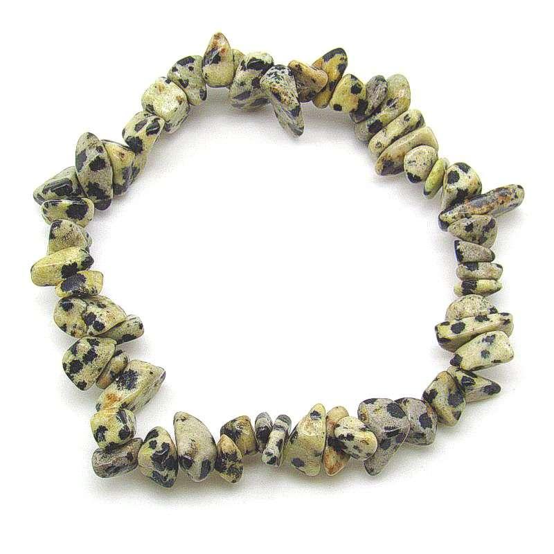 Dalmation jasper chip bracelet.