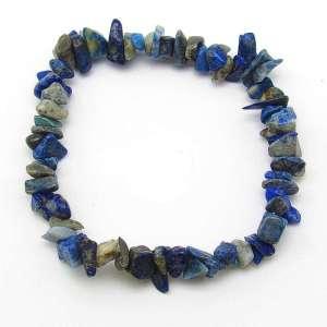 Denim lapis lazuli chip bracelet.