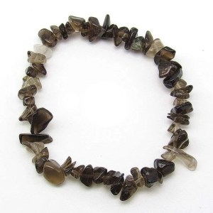 Smoky quartz chip bracelet.