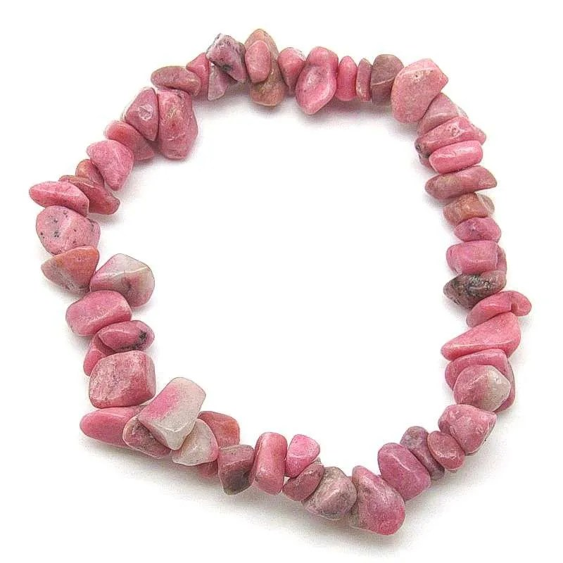 Rhodonite chip bracelet.