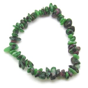 Ruby in zoisite chip bracelet.