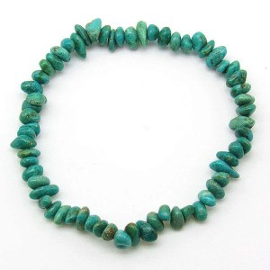 Turquoise chip bracelet-medium-small chips