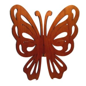 Cherry wood butterfly wall hanging