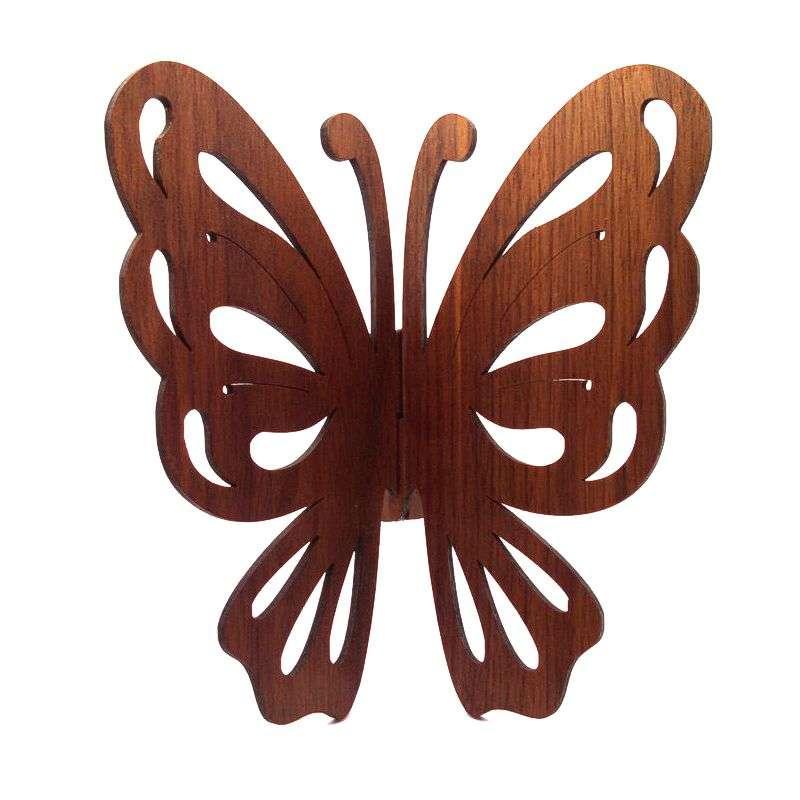 Walnut wood butterfly wall hanging