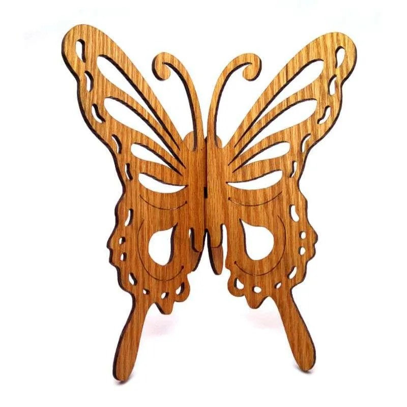 Oak wood butterfly wall hanging