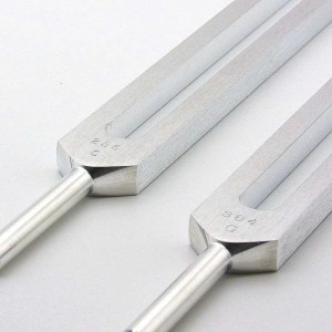 Pythagorean perfect fifth tuning fork set.