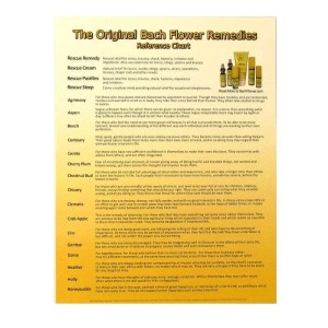 Bach Flower Remedies chart.