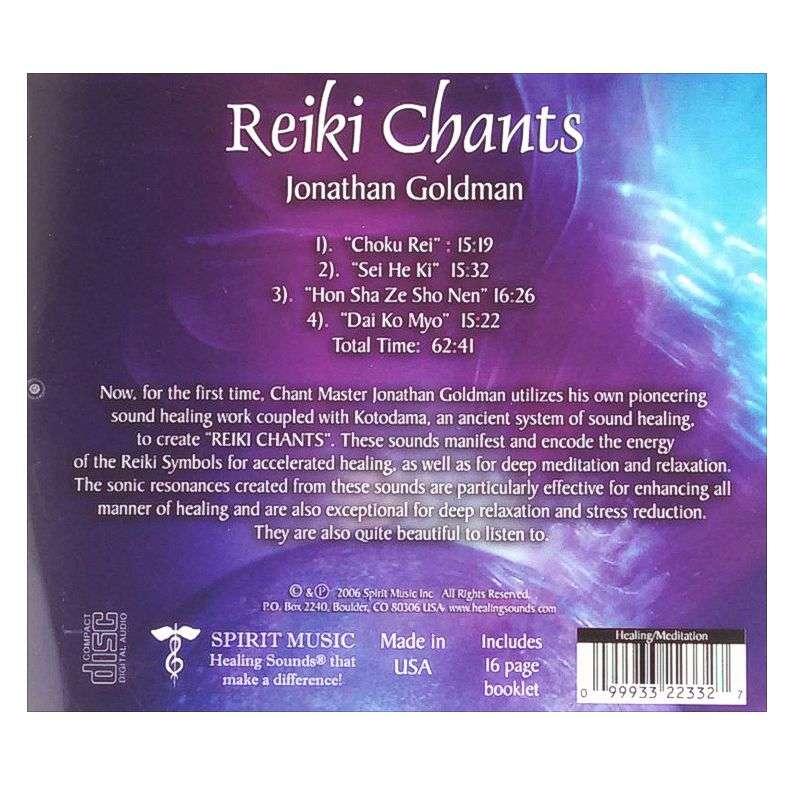 Back cover of Reiki Chants