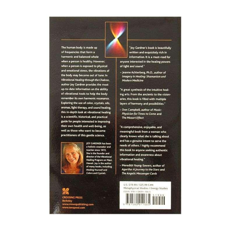 Back cover of Vibrational Healing through the Chakras by Joy Gardener