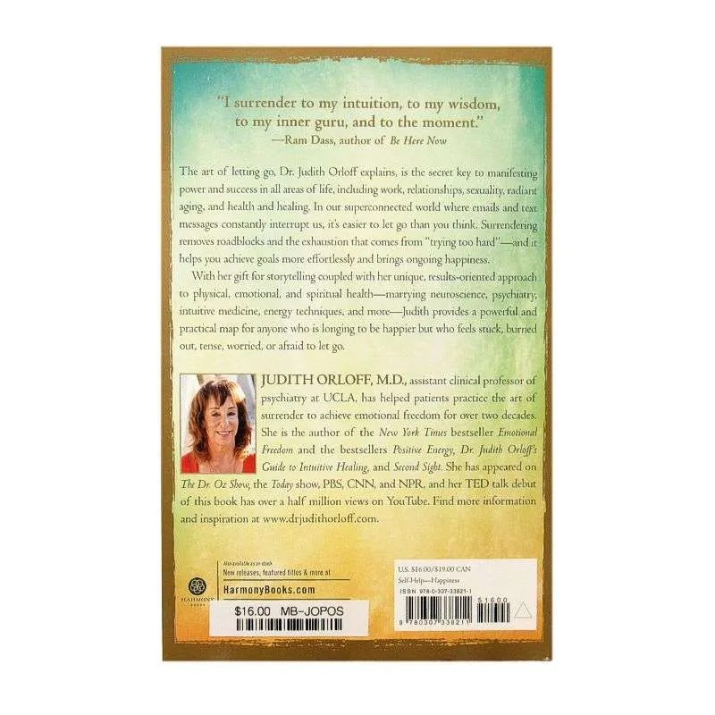 Back cover of The Power of Surrender by Judith Orloff