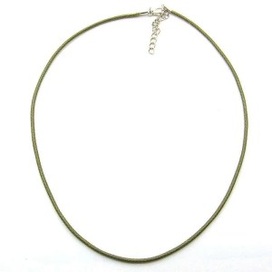 Imitation leather necklace cord, 18 inch adjustable-khaki.