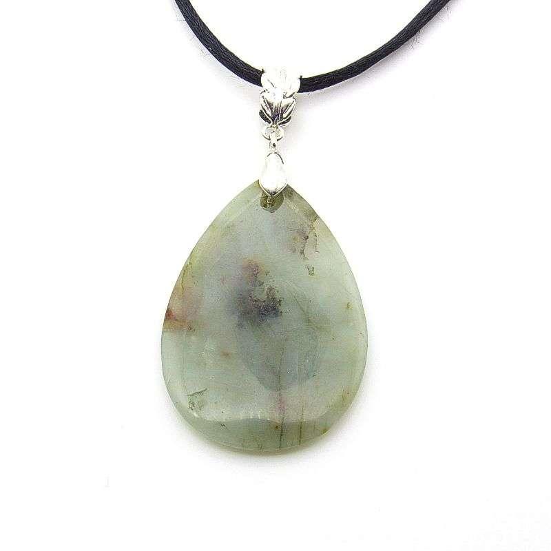 Emerald teardrop pendant