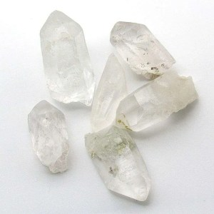 Quartz crystal points.