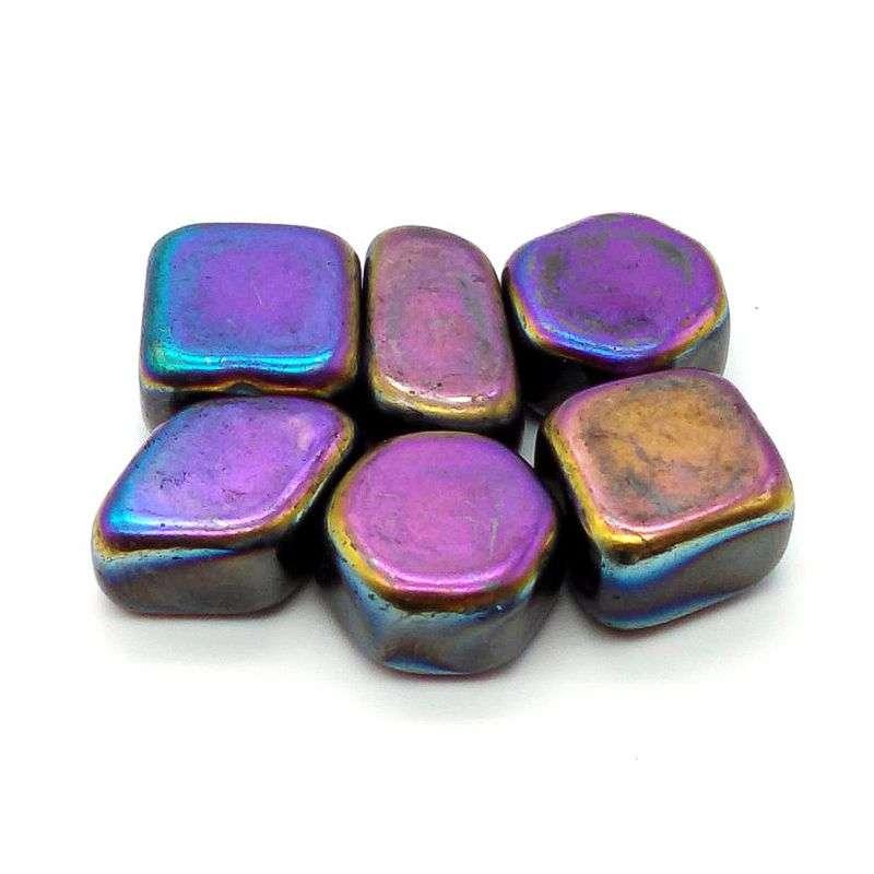 Rainbow magnetic hematite.