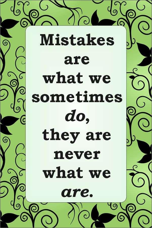Mistakes Refine Not Define