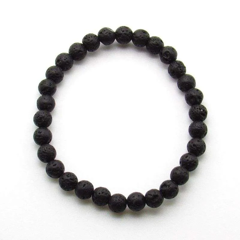 Lava 6mm bead bracelet.