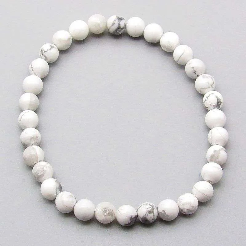 Howlite 6mm gemstone bracelet.