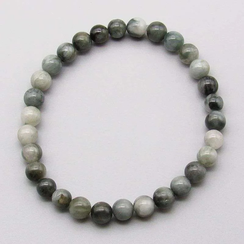 Cat's eye quartz 6mm gemstone bead bracelet.