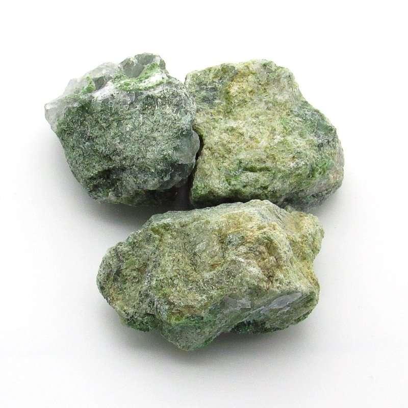 Rough diopside crystals.