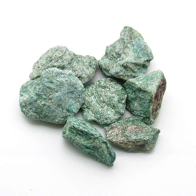 Rough fuchsite crystals.