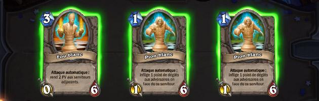 Votre deck est composé de cartes spécifiques à la partie d