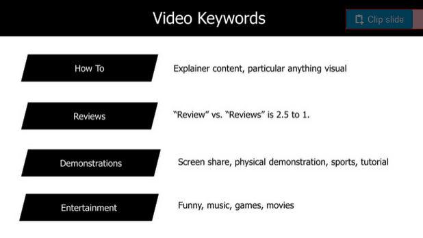 Slide showing a detail from Justin Briggs' SearchLove presentation