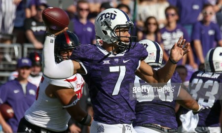 kenny hill tcu spring practice