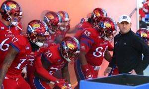 NCAA Football: Oklahoma at Kansas