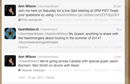 Ann Wilson announces Canadian Heartbreaker Tour in response to heart linker.nl