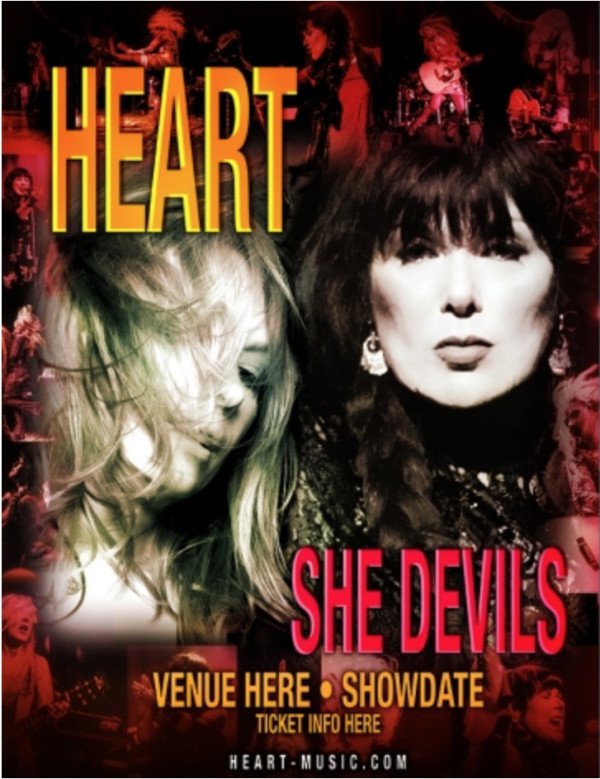 "Heart's 2016 solo tour dates are named ""She Devils"""