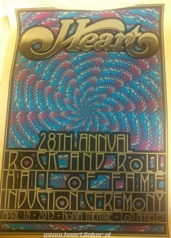 RRHOF Induction Heart poster which was sold in LA. Thanx to Boogie!