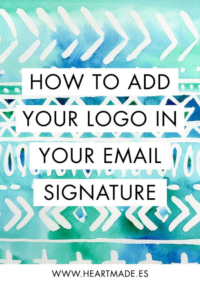 I found a very easy way to set up an email signature with your logo - check the tutorial here