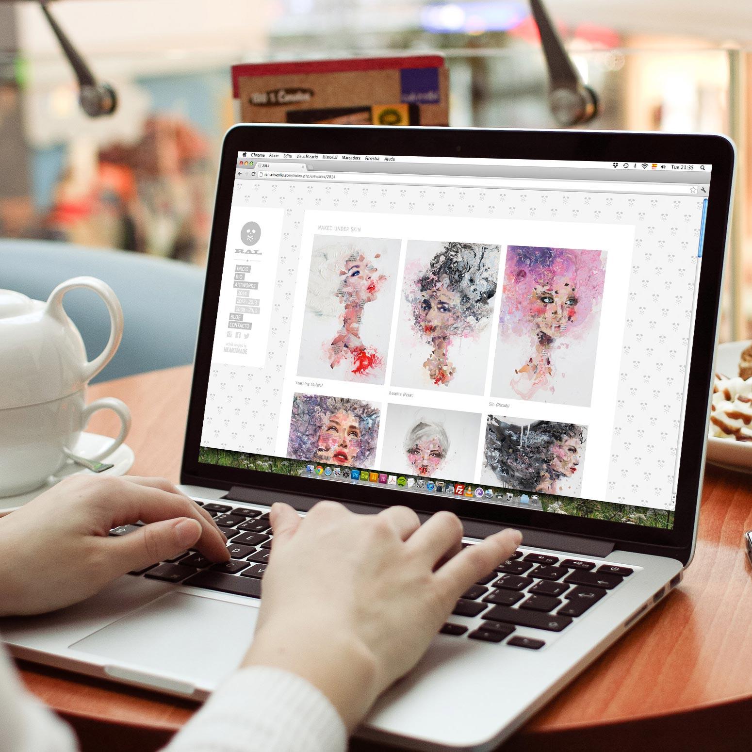 artist website design for Ral Artworks by Heartmade.es